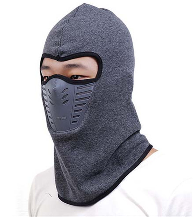 Outdoor cotton Winter Neck Face Mask Hood Warmer Balaclava with plastic mouth muffle protective outdoor war game military skull half face shield mask black