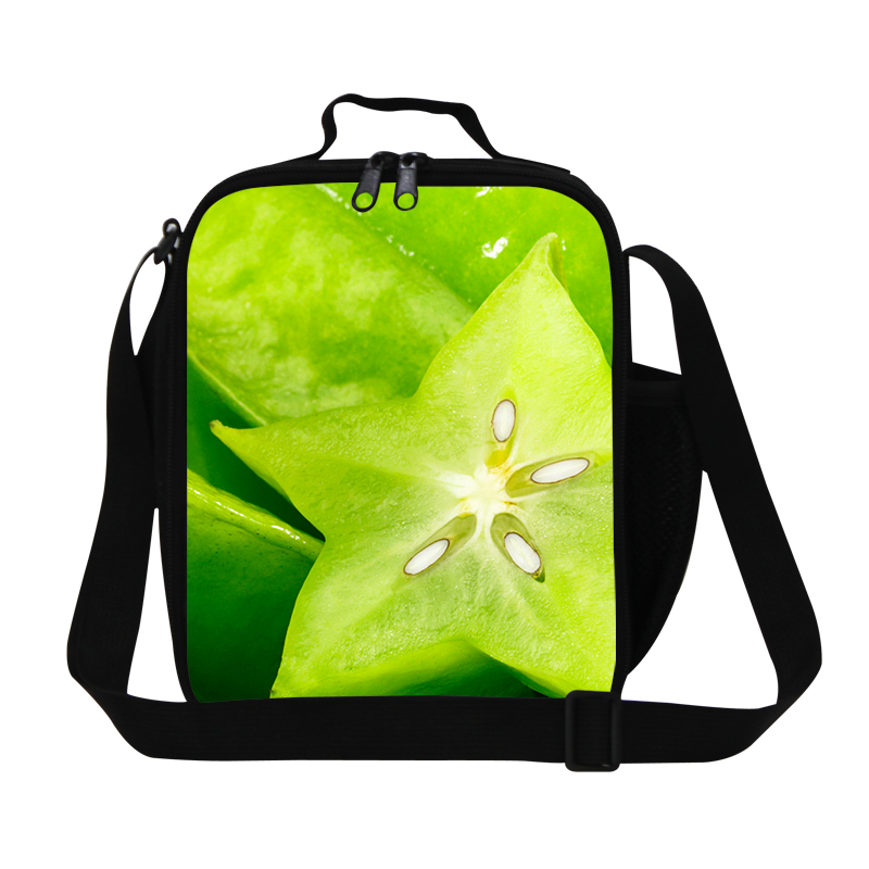 Personalized girls lunch bags for school,fruit print kids lunch box bag,thermal work lunch bags womens insulated lunch container