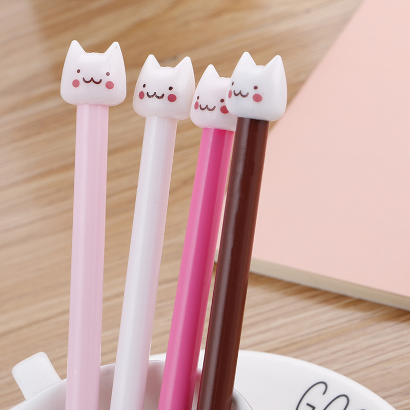 1 Pcs Creative Cartoon  Kawaii  Cat Office Supplies  Cute Student Stationery Black Ink Pen High Quality Office Signature Pen