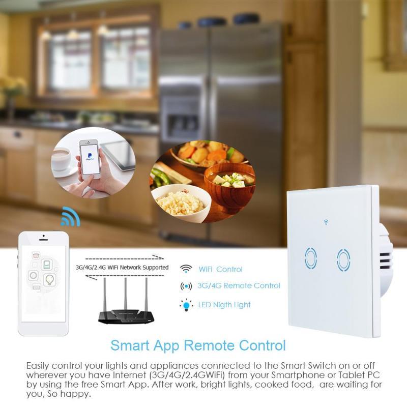 Interruptores e Relés de casa inteligente interruptor de Size : 8.6 * 8.6 * 3.7 cm