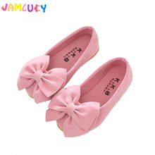 Children Shoes Girls Big Bow Candy Colors Shoes Princess Flat Autumn Shoes Slip On Girls Cute