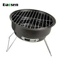 Baosen Portable Folding Charcoal Grill Mini Round BBQ Grill