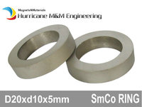 100pcs Smco Magnet Ring Od 20x10x5 Mm Grade Yxg28 300 Degree C High Operating Temperature Permanent Magnets Rare Earth Magnets