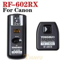 Y ONGNUO RF-602 RF 602 RF 602ไร้สายระยะไกลแฟลชทริกเกอร์สำหรับCANON 1D 5D 7D 60D 50D 40D 30D, 20D, 10D 550D 500D