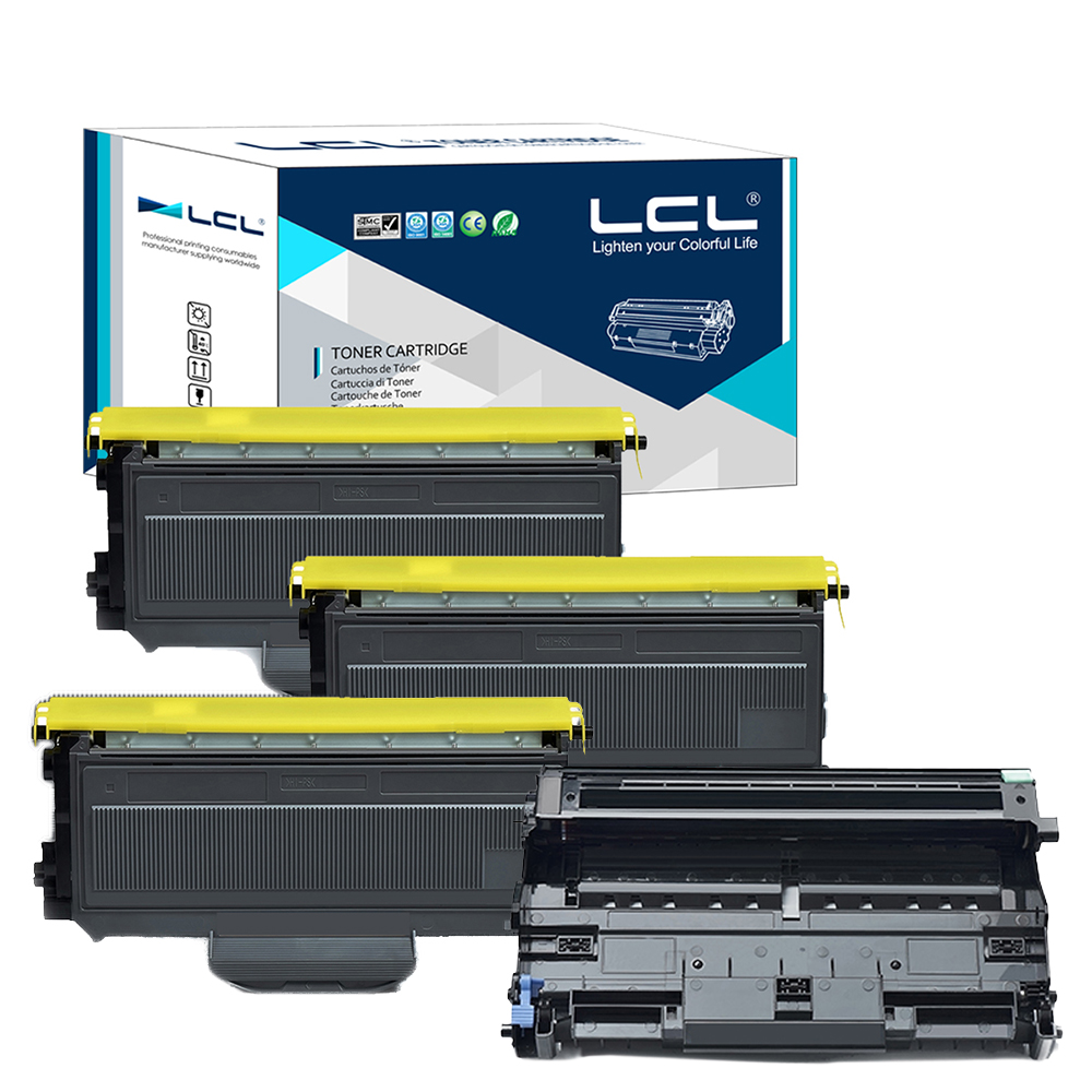 LCL TN2120 TN2110 DR2100 ( 4-Pack ) Toner Cartridge Compatible for Brother HL-2140 HL-2150 HL-2170W MFC-7440N 7450 MFC-7840W