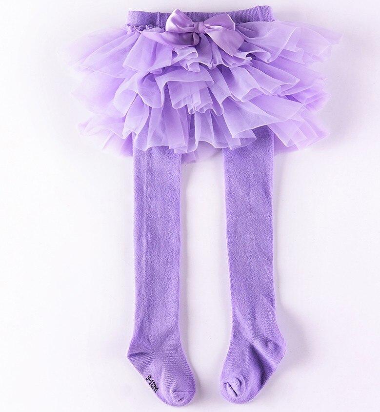 Колготки для маленьких девочек шифоновая юбка-пачка леггинсы для новорожденных фатиновая юбка - Цвет: Лаванда