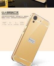 Espelho de luxo metal duro de volta caso de telefone para htc desire 820 826 816 626 Um M8 M9 M10 A9 fundas capa para