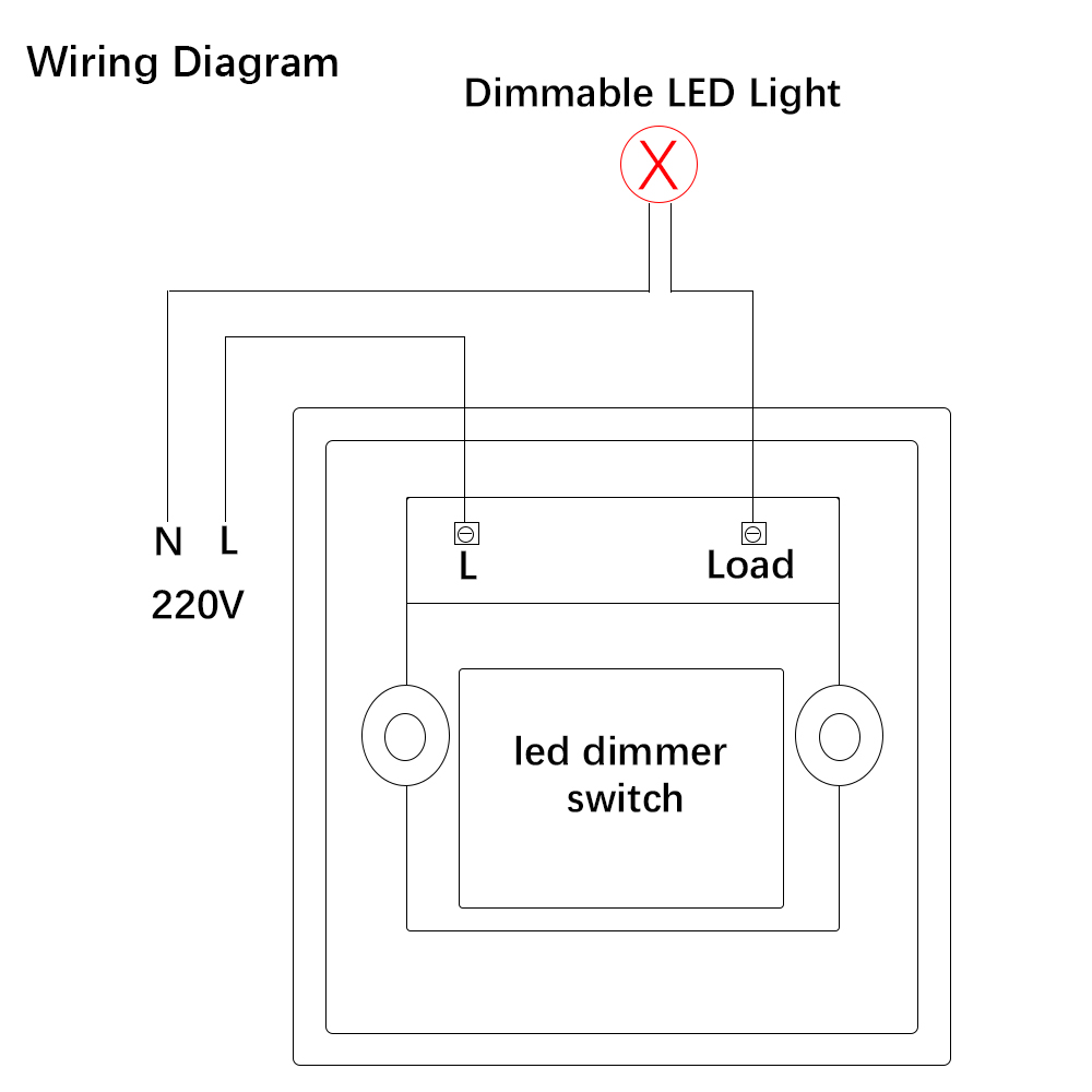Led Dimmer Switch 220v 300w 600w Brightness Dimmers For Adjustable Wiring Diagrams Lights In From Lighting On Alibaba Group