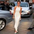 2015 Emma Watson Noah Red Carpet Dresses Halter Off Shoulder Sheath Chiffon Evening Celebrity Dresses