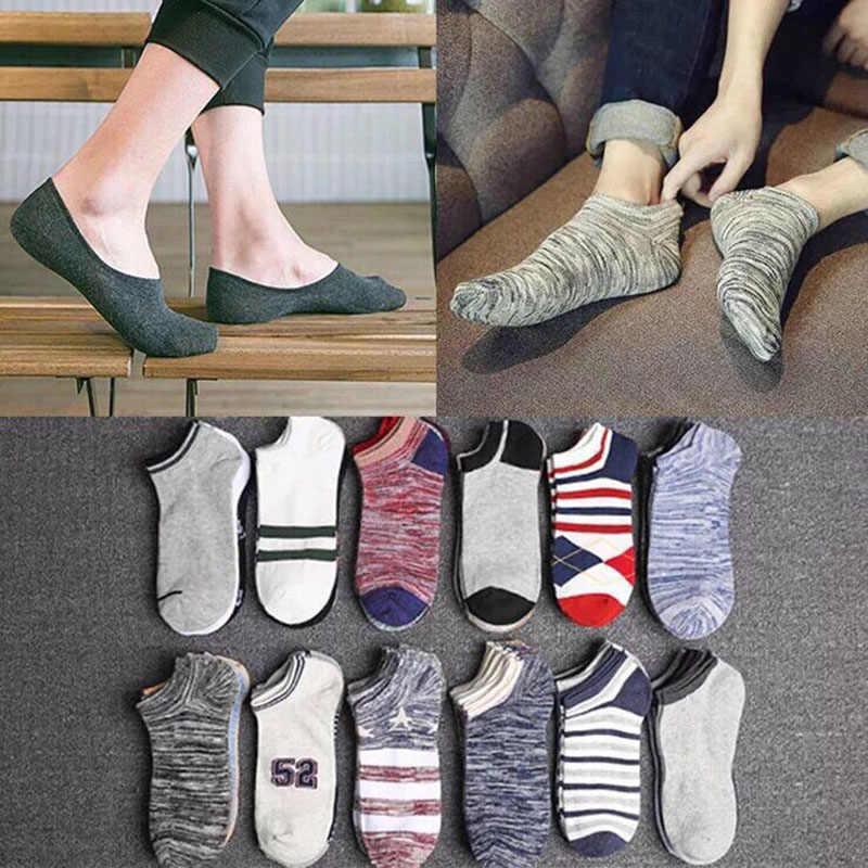 10 adet = 5 çift/grup Ilkbahar Yaz Erkek Pamuk Ayak Bileği Çorap erkek Iş Spor Rahat Katı Kısa Çorap erkek Çorap Terlik