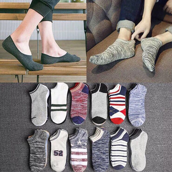 10pcs=5 Pairs/lot Spring Summer Men Cotton Ankle Socks For Men's Business Sports Casual Solid Short Socks Male Sock Slippers