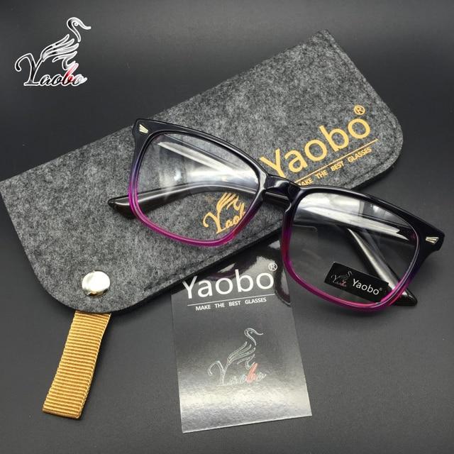 Yaobo Novos Óculos da marca quadro Do Olho Do Vintage óculos Para As Mulheres  Homens Frame ba35c458ad