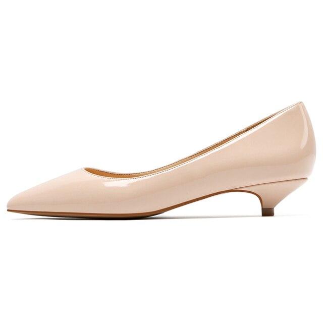 4ed65e5937e Women Shoes Black Patent Leather Pumps 3CM Low Heels Nude Party ...