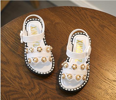 Girls Sandals 2019 Summer New Beach Shoes Children's Plastic Sandals Girls Small Children's Shoes Korean Princess Shoes