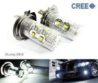 2x H7 499 High Power CREE LED 50W Projector Bulb HeadLight Daytime Fog Light DRL