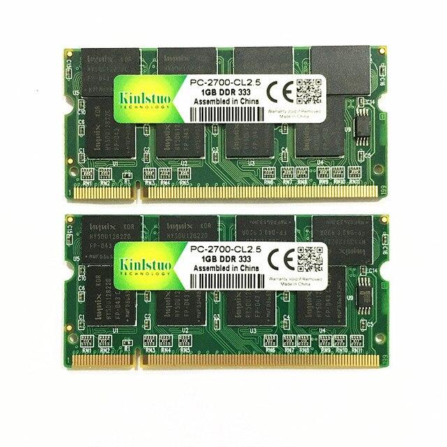 Kinlstuo Новый DDR1 1 ГБ ОЗУ PC2700 DDR333 200Pin Sodimm память DDR 1 ГБ Бесплатная доставка 4