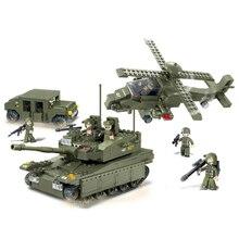 B0309 683pcs Sluban Amphibious Assault Mini Bricks Set Sale Land Force Military Series Building Blocks Learning Toys Children