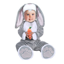 Infant Toddler Animal Rabbit Bunny Costume for Baby Boys Girls Halloween Purim Easter Party Carnival Costumes Jumpsuit Bodysuit