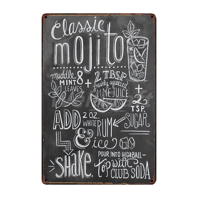 [WellCraft] кофе Коктейль любовь торт чай жестяная вывеска настенные таблички на заказ металлическая живопись античный подарок Бар Паб Декор LT-1704 - Цвет: SA-2621