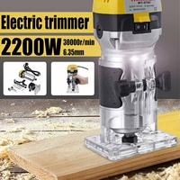 2200W 220V Electric Hand Trimmer Wood Router 6.35mm Woodworking Laminator Carpentry Trimming Cutting Carving Machine Power Tool universal oil filter wrench