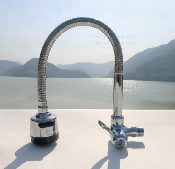 contemporary wall mounted ceramic valve single cold water kitchen sink tap faucet
