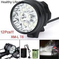 30000LM 12 x XM-L T6 LED 6x18650 Bisiklet bisiklet Işık Su Geçirmez Lamba Açık Bisiklet Bisiklet Işık Aksesuarları Jan 20