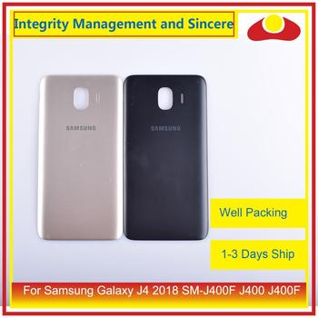 10Pcs/lot For Samsung Galaxy J4 2018 SM-J400F J400 J400F Housing Battery Door Rear Back Cover Case Chassis Shell Replacement - sale item Mobile Phone Parts