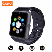 Купить с кэшбэком OGV Bluetooth Smart Watch Men GT08 With Touch Screen Big Battery Support TF Sim Card Camera For IOS iPhone Android Phone