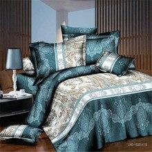 купить 3D bedding sets 4 PCS comforter duvet cover set winter bedsheet queen king size Bed linen bedclothes flower print HomeTextiles по цене 2996.04 рублей
