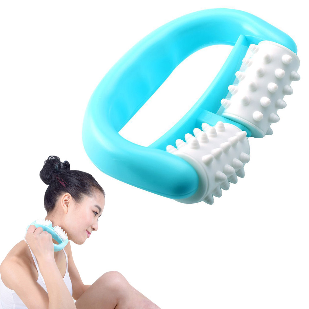 Convenient Manual Body Massager Roller Handheld Pain Relief Cellulite Massage Tool For Neck Head Foot Hand Leg HY99 DC29