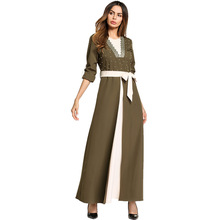 #1865792# Hot Sell Wide - Spread Large-size Womens Dress Arabian Evening Middle East Robes Mujer Vestidos