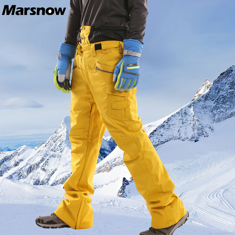 Marsnow Couple Ski Pants Winter Women Men High Quality Snowboard Pant Waterproof Breathable Thick Warm Outdoor Skiing Pants WP35 marsnow brand outdoor sport warm breathable waterproof ski pants men high quality snowboard winter hiking snow trousers for men