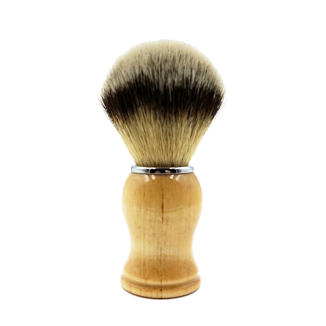 Men Shaving Brush Hand-made Badger Brushes Barbear Wood Handle Brocha Hair Knot Beard Brush for Mens Free Shipping