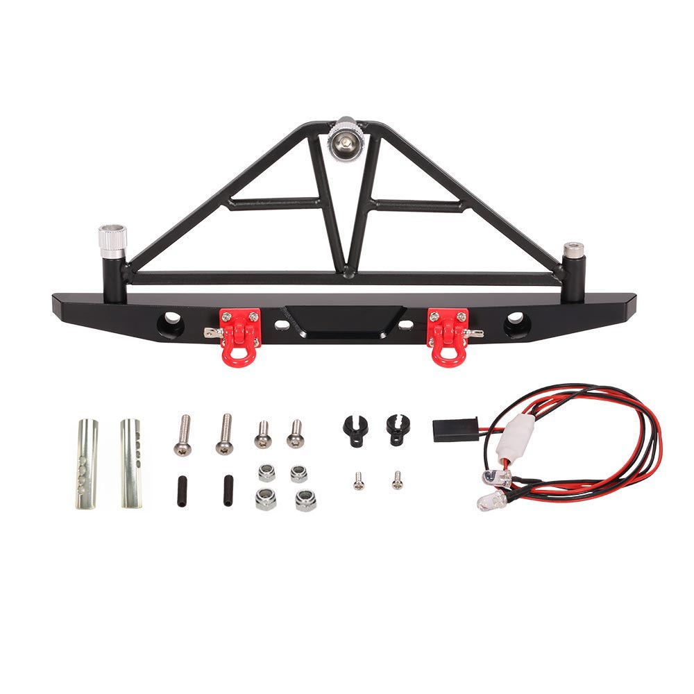 AX-20002 Metal Rear Bumper with Spare Tire Carrier Taillights for 1/10 AXIAL SCX10 RC Rock Crawler недорого