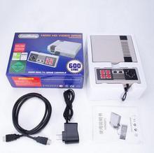 Новый Ретро Классический Ручные игры Семья ТВ Портативный Видео игровой консоли детства встроенный 600 игр для ne Mini HDMI OUT