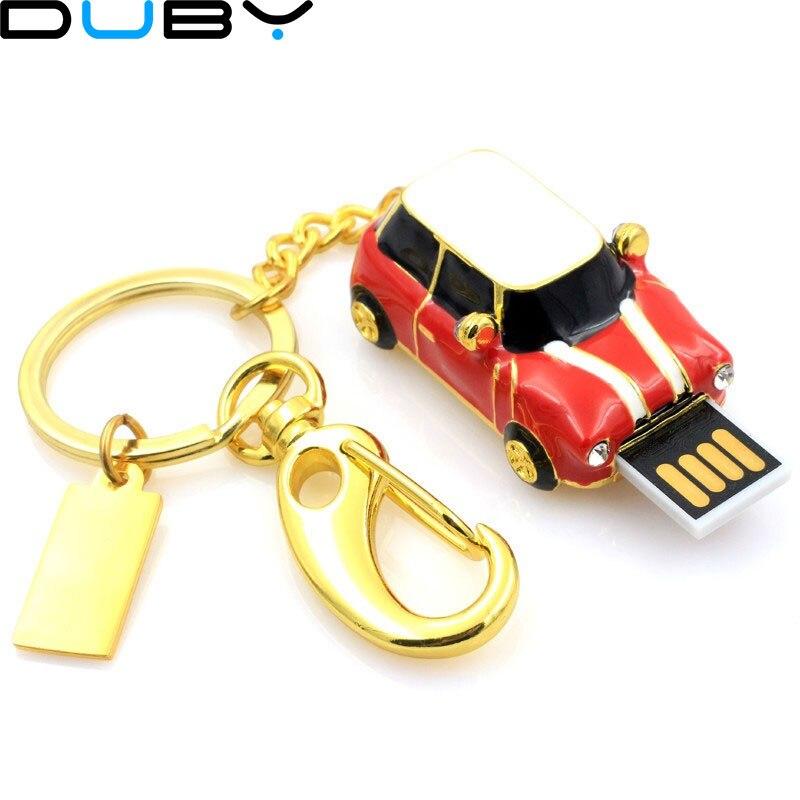 Mini Cooper Car Shape USB Flash drive 64gb usb 2.0 pen drive flash memory stick u Disk pen drive 32gb pendriver Free Shipping