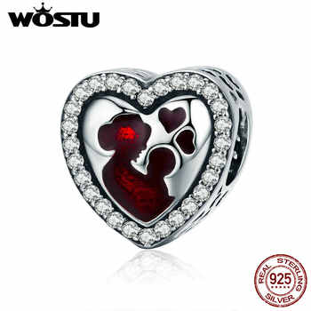 WOSTU Hot Sale 100% 925 Sterling Silver Best Love For MOM Charm fit Bead Bracelet DIY Jewelry Birthday Gift For Mother CQC634 - DISCOUNT ITEM  25% OFF All Category