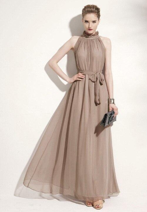Fashion Women Bohemian Vestidos Sleeveless Women S Chiffon Ruffle