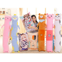Fancytrader Cute Soft Anime Animals Plush Pillows Big Stuffed Cat Bear Penguin Pig Toys for Children