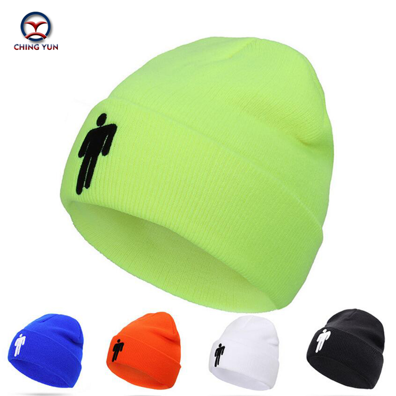 CHINGYUN Hat Street Men And Women Fashion Knitted Wool Cap Thick Villus Winter Warm Hit Outdoor Multicolor Cartoon Humanoid Hat