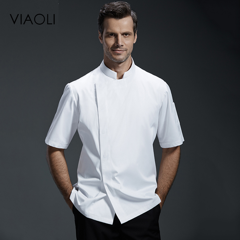 Viaoli Quality Chef Working Uniform Clothing Long Sleeve Men Food Services Cooking Clothes JacketsCoat Uniform  Hotel Kitchen070