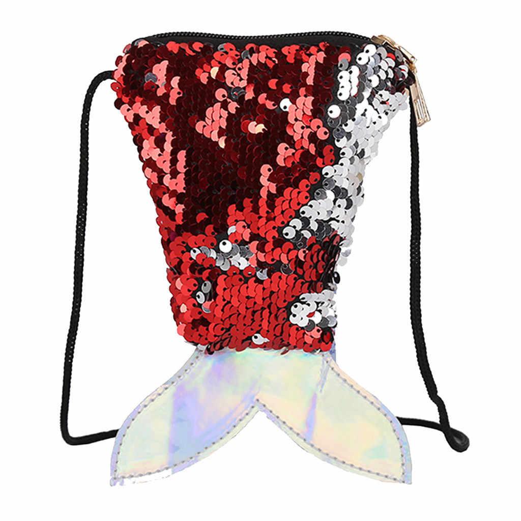 Novo Saco de Ombro Da Forma Das Mulheres De Lantejoulas Criança Crossbody Sacos de Ombro Mensageiro Saco de Moeda bolsa feminina