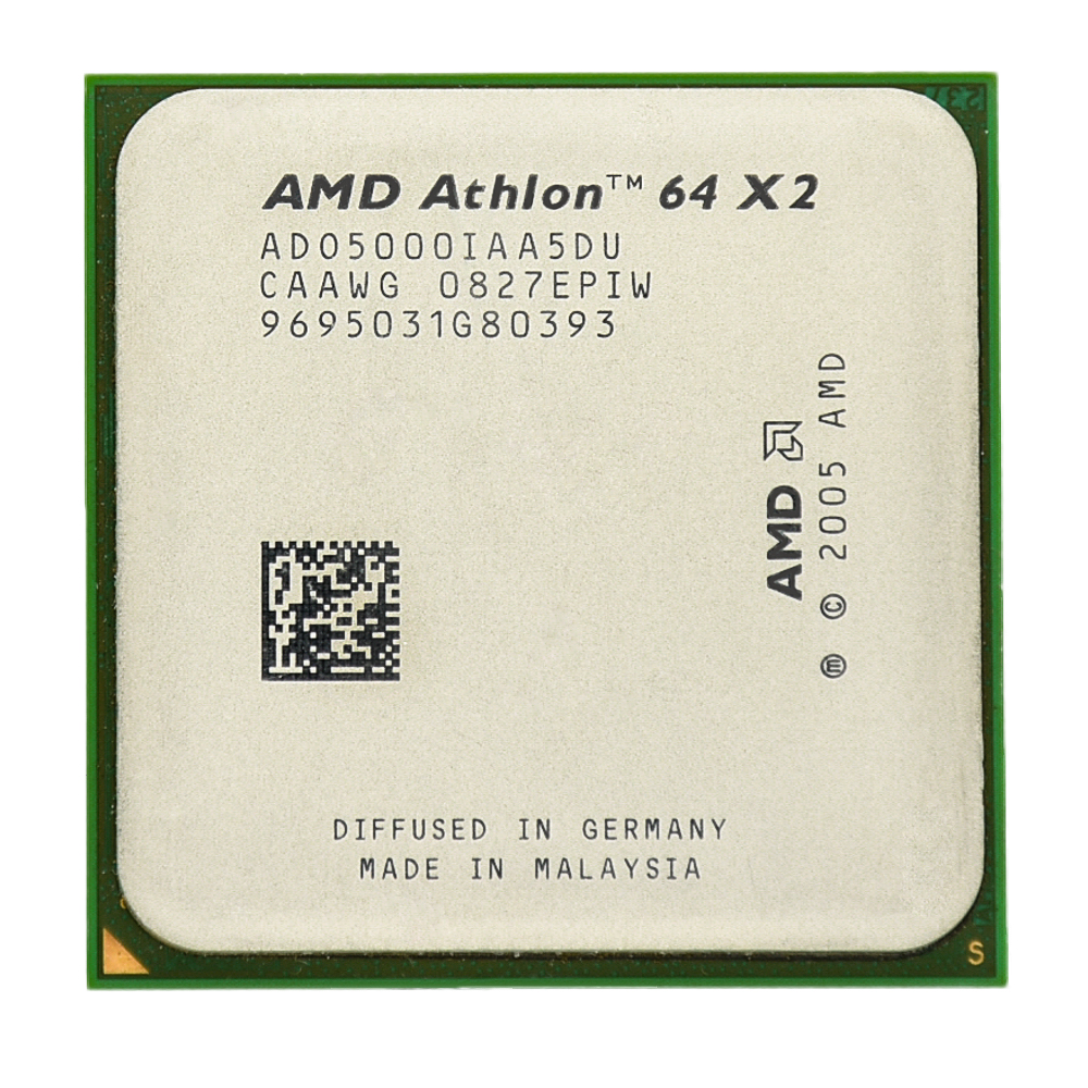 AMD Athlon 64 X2 5000+ Dual-Core 2.2Ghz  1M  1000MHZ Socket Am2 940 Pin CPU Processor