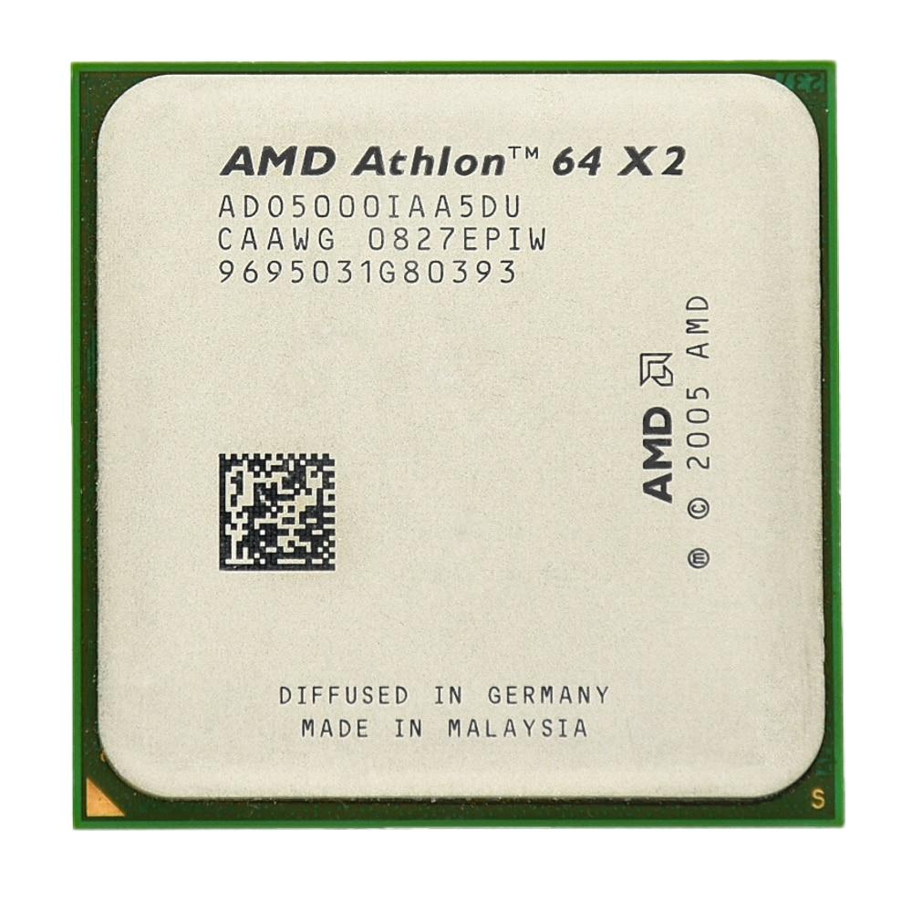 AMD Athlon 64X2 5000 + Dual-Core 2.6 ghz 1 m 1000 mhz Socket am2 940 broches CPU Processeur