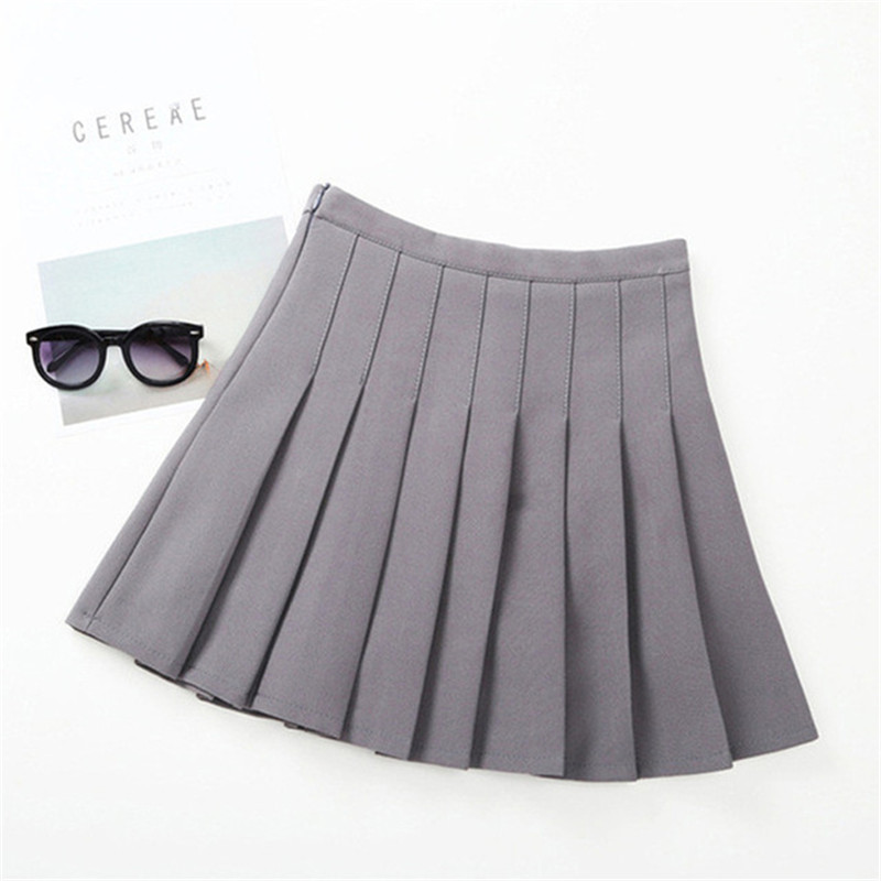 Girls Pleated Skirt Solid Princess Party Pleated School Skirts High Quality Soft Plaid Skirt Girl Child Petticoat For 3-12 Years dabuwawa autumn women fashion sexy plaid skirt elegant mini pleated skirt short streetwear asymmetrical skirt d17csk031 page 4
