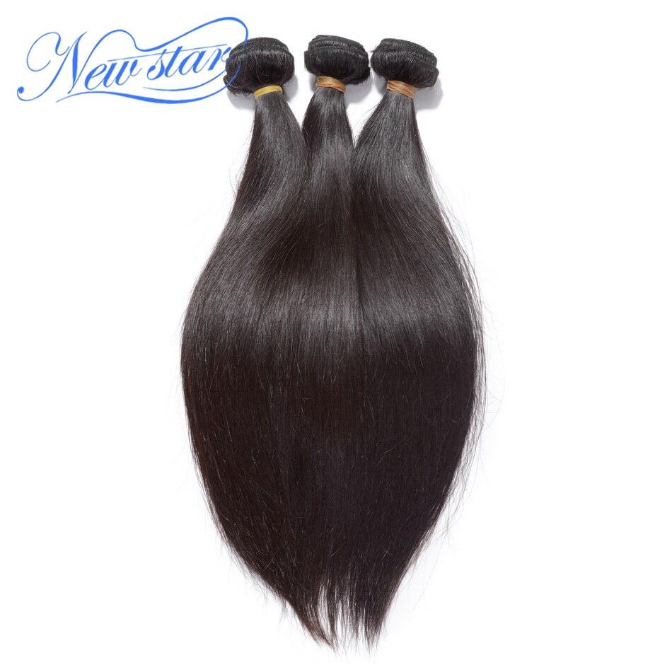 Nueva Estrella peruana del pelo recto 3 unids trama 100% Extensiones de pelo humano virginal color natural grueso paquetes de pelo que teje envío gratis
