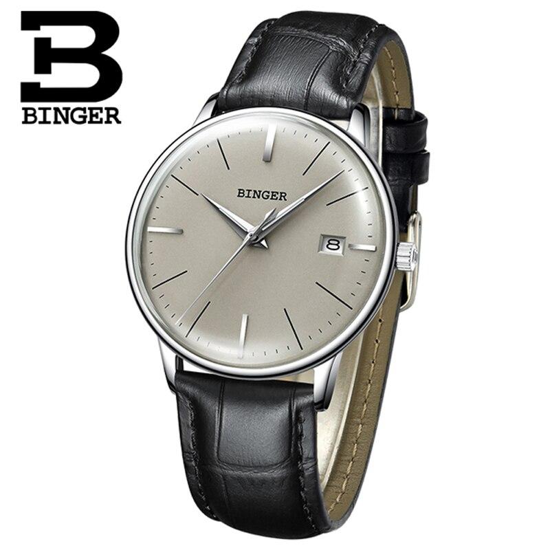 Швейцария BINGER механические часы для мужчин Роскошные Брендовые мужские автоматические часы сапфир наручные часы мужской водонепроница...