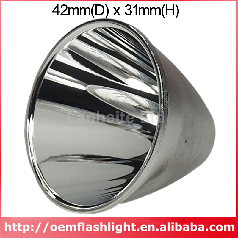 42mm(D) X 31mm(H) SMO Aluminum Reflector For C8 Cree XM-L T6