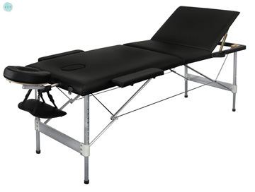 Massage Bed Portable Folding Three-fold Aluminum Alloy Beauty Body Tattoo Massage Therapy Bed