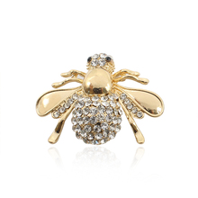 Exquisite Fashion Animal Insect Brooch Jewelry Rhinestone Bee Honey Bee Needle Brooch Ladies Gold And Silver Needle Jewelry все цены